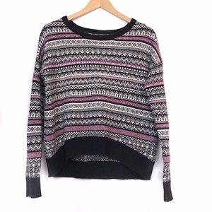 URBAN OUTFITTERS Black White Nordic Stripe Sweater